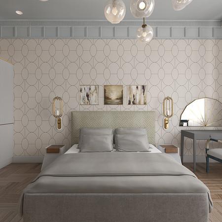 """Спальня в проекте """"БарринХаус"""""""