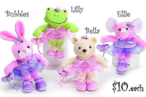 Lilly & Friends Plush (Frog, Bunny, Bear or Elephant)