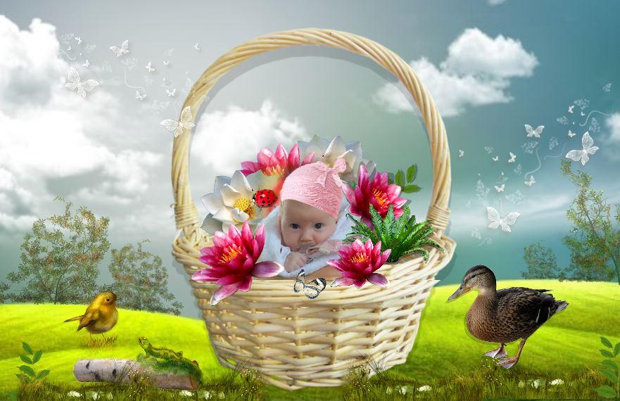 Коллаж для детской фотокниги