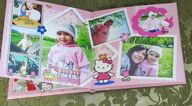 детская фотокнига для девочки хелло китти