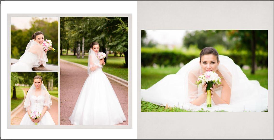 Свадебная фотокнига в английском сти
