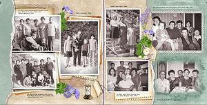 ретро фотокнига с описаниями родословной