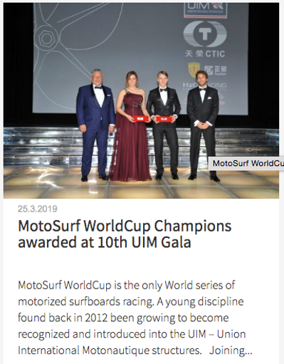 Motosurf worldcup Champions