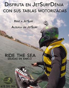 Tablas motorizadas de surf, salidas en barco denia y Jávea rent a jetsurf