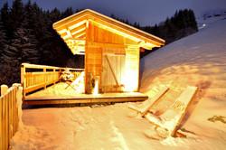 Winteransicht Sauna