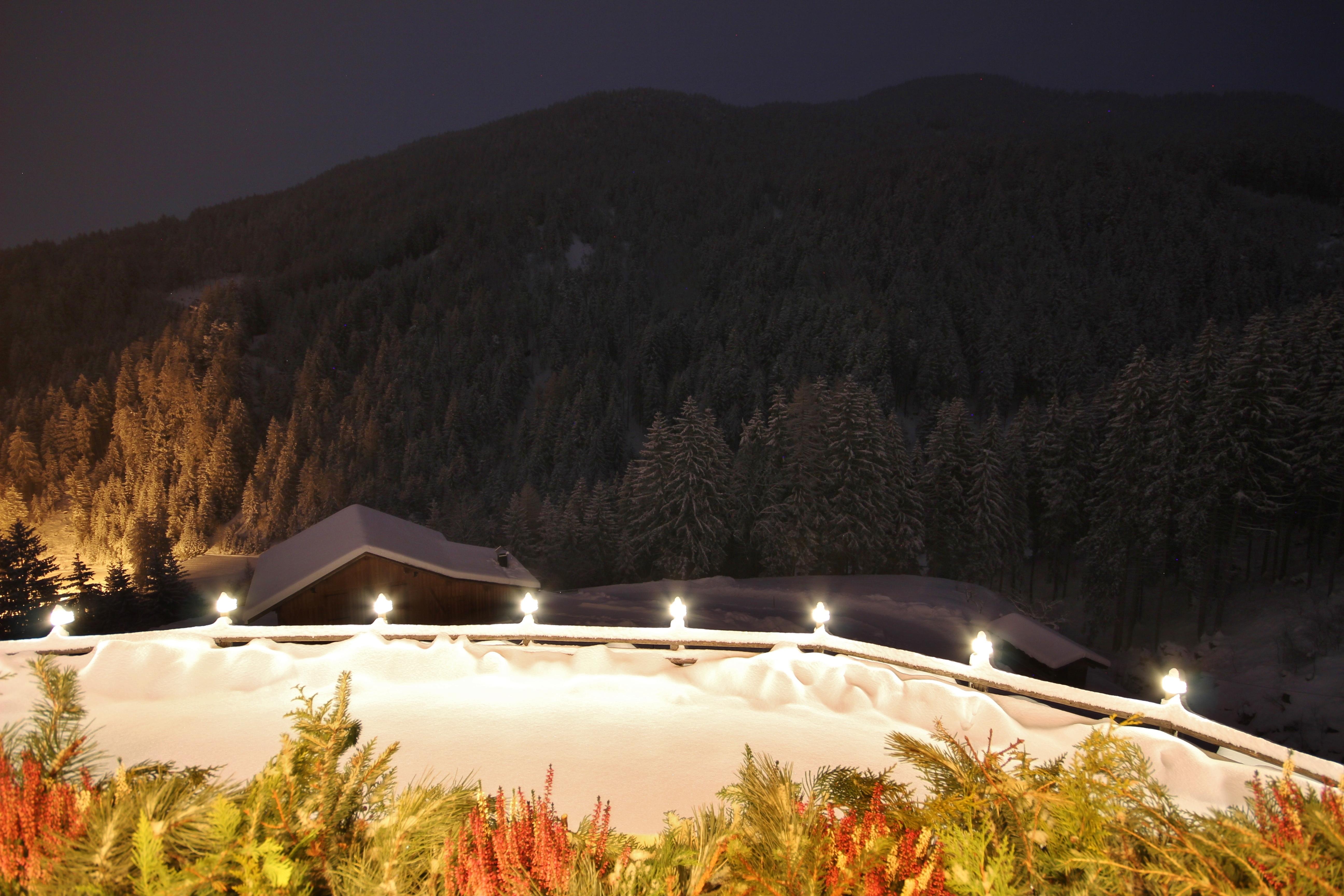 Dolomitenblick Balkon Winter 2020