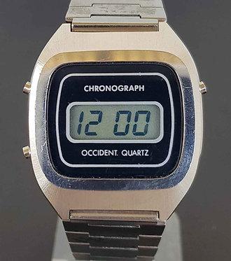 Reloj OCCIDENT, digital, cronografo VINTAGE. NOS