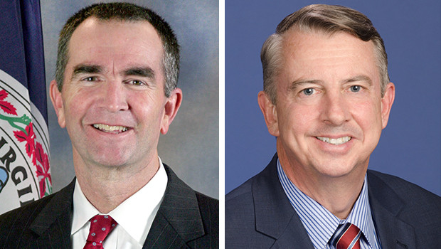 From left to right: Ralph Northam (D) and Ed Gillespie (R)