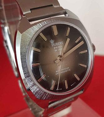 Reloj RUBENS Prima de luxe, de cuerda, vintage, C1970, NOS