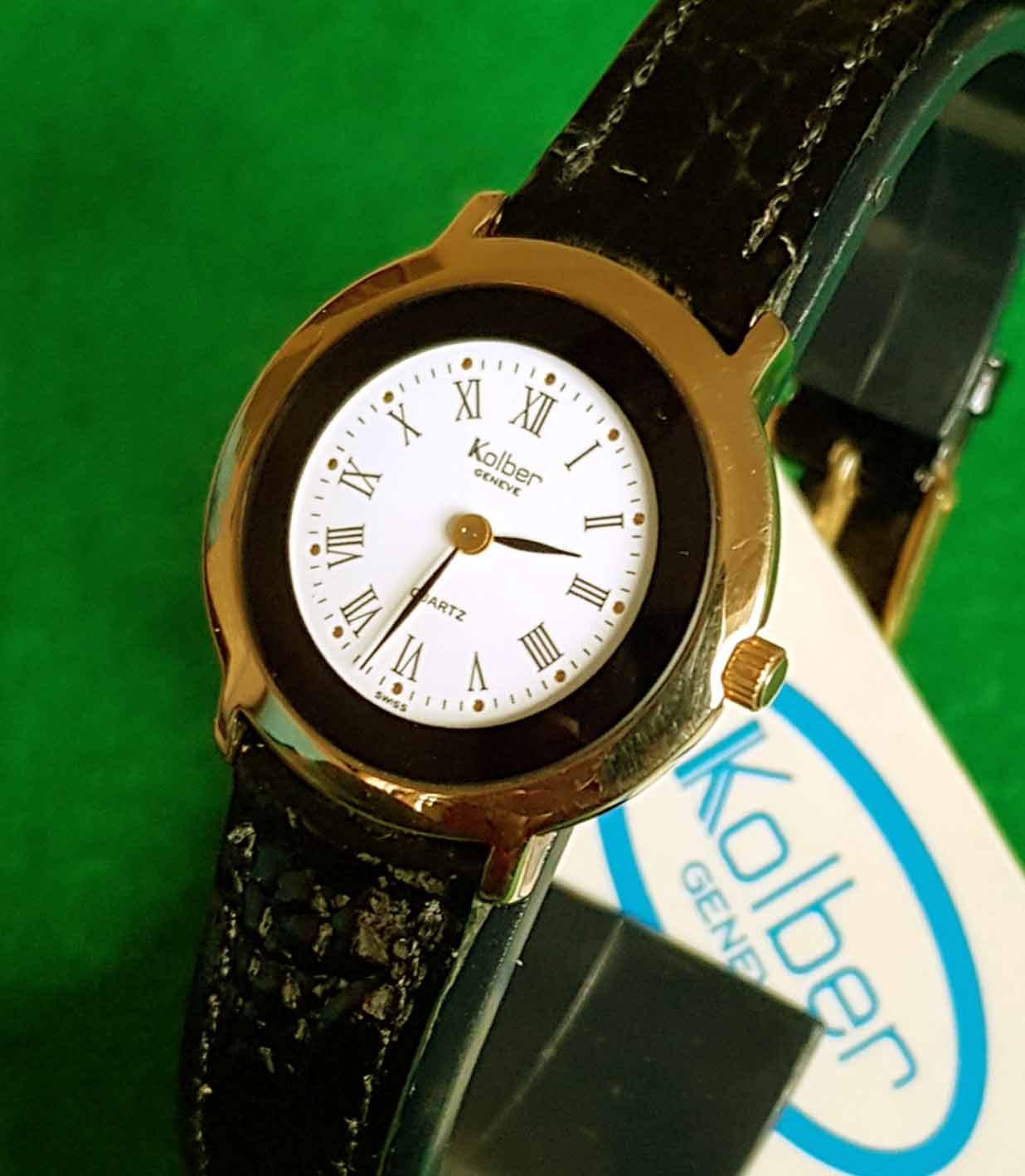 18kVintageNosnew Old Stock Electroplated Reloj Kolber FJTlK1c