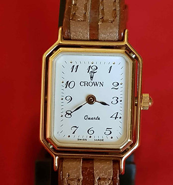 RELOJ CROWN, Swiss made, VINTAGE, NOS (new old stock)