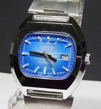 Reloj DIANTUS de Luxe, Swiss made, vintage, c1970, NOS