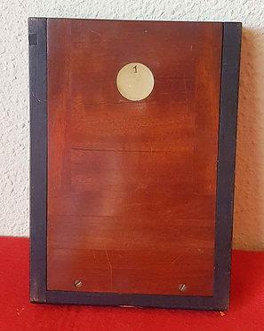 CHASIS PORTAPLACAS de madera, para placas de cristal de 9 x 12 cm