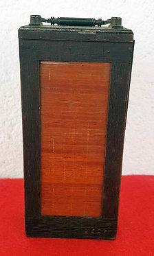 CHASIS MAGAZINE de madera y PORTAPLACAS para placas de cristal de 4,5 x 10,5 cm