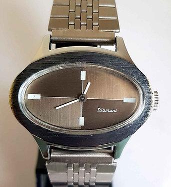 Reloj DIAMANT, de cuerda, vintage, C1970, NOS