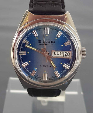 Reloj SILGOR, automático, Swiss made; VINTAGE. NOS