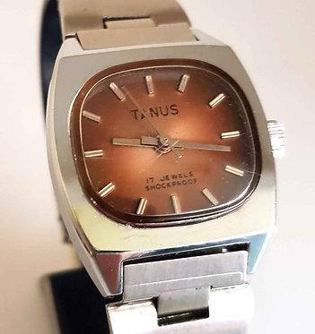 Reloj TANUS, de cuerda, vintage, C1970, NOS