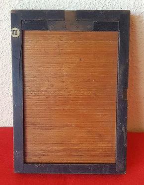 CHASIS PORTAPLACAS de madera, para placas de cristal de 10 x 15 cm