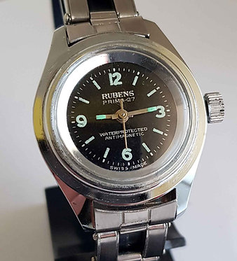 Reloj RUBENS, Swiss made, de cuerda, vintage, C1970, NOS