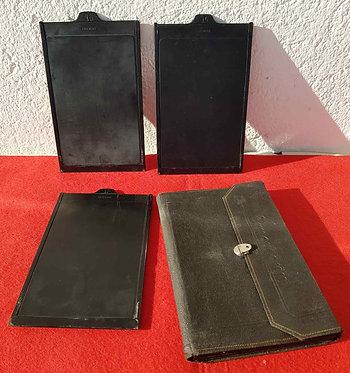 3 PORTAPLACAS ERNEMANN para placas de cristal de 10 x 15 cm