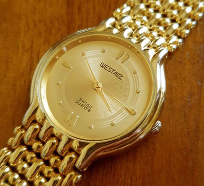 Reloj WESTAIR 18K gold electro plated, Vintage,
