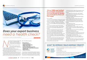 Does your export business need a health check?