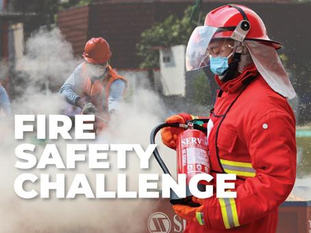 Servvo dalam Acara Fire Safety Challenge Dinas Damkar DKI Jakarta