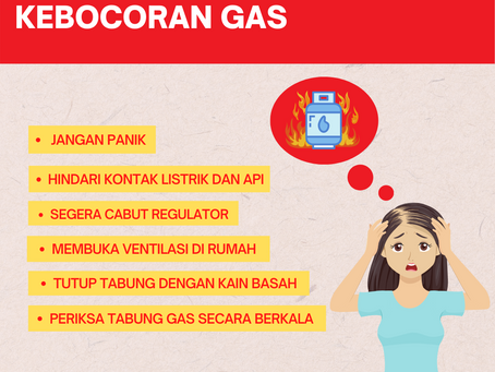 Tips Mengatasi Kebocoran Gas