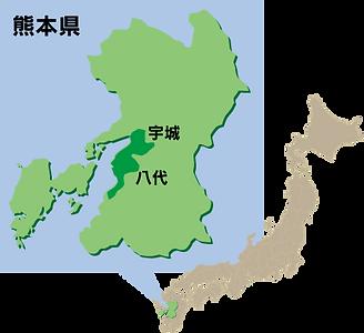 熊本の産地地図_い草・畳表の生産状況