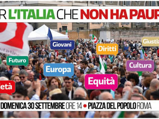 30 settembre: tutti a Roma