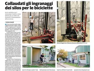 Articolo del Cittadino sul collaudo del silos biciclette