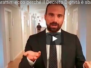"""A proposito del cosiddetto  """"decreto dignità"""""""
