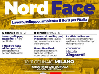 "10 e 11 gennaio ""Nord Face"" Milano con Nicola Zingaretti"
