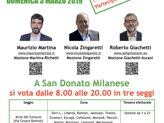 Primarie a San Donato. Partecipate!