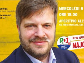 8 maggio, incontro con Majorino, candidato alle elezioni europee