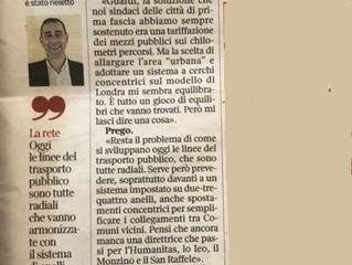 Trasporti. Intervista al sindaco Checchi sul Corriere della Sera