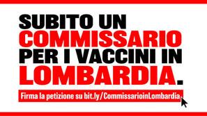 Firma per chiedere un commissario per i vaccini in Lombardia
