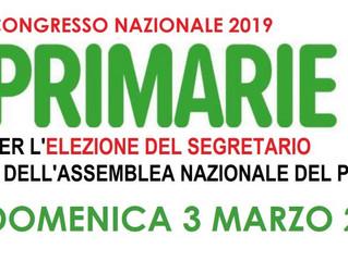 Congresso PD 2019. PRIMARIE il 3 marzo