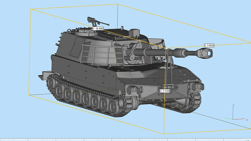 M109 Howitzer Highly Detailed