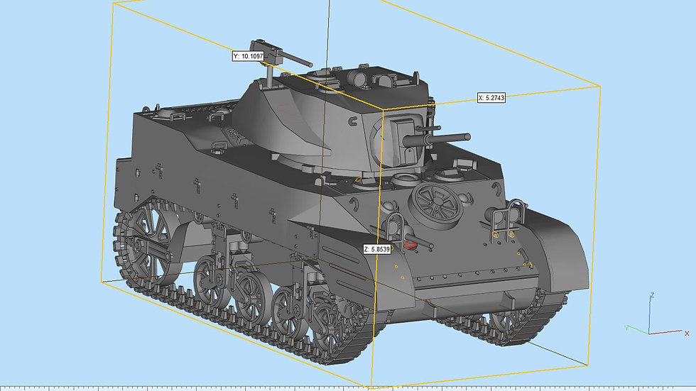 M5A1 Stuart Highly Detailed