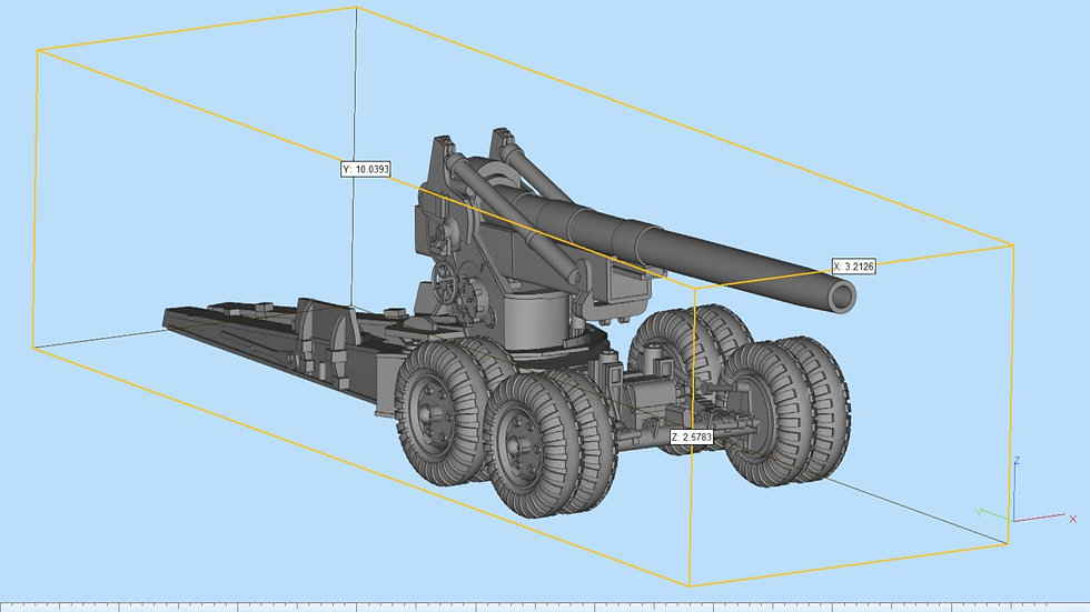 M115 203mm Howitzer Detailed