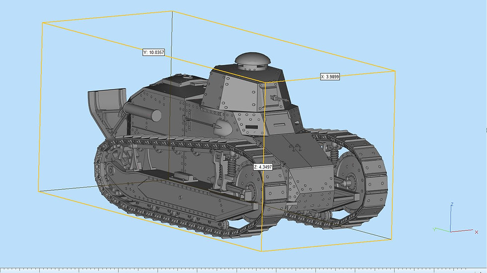 Ft17 Tank Highly Detailed