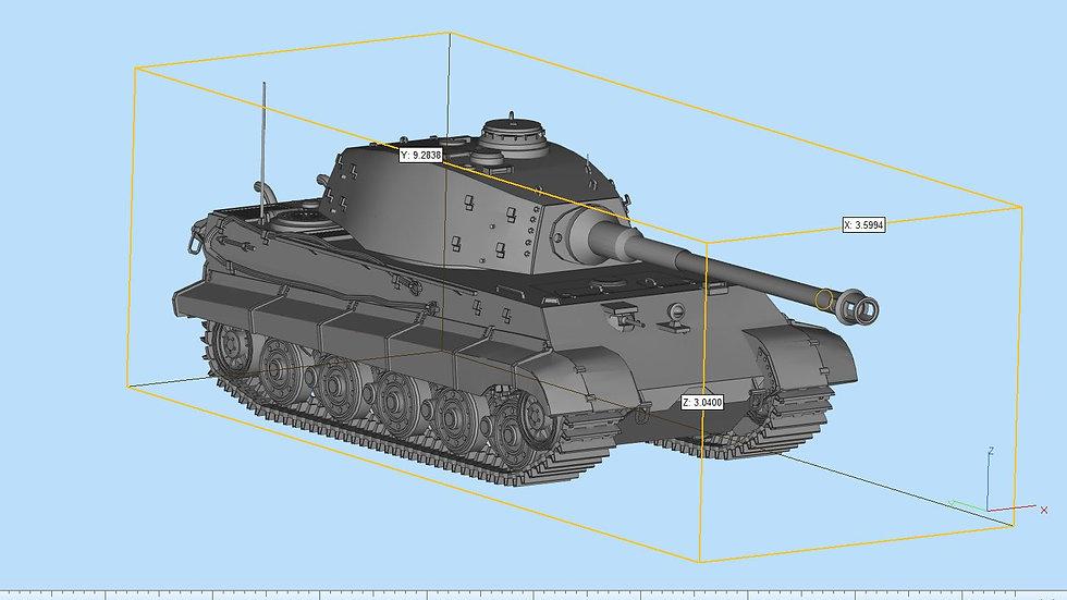 King Tiger Tank Detailed