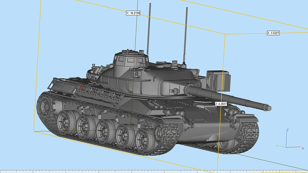 Amx30 Tank Highly Detailed