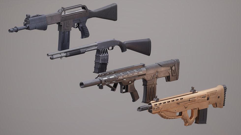 Shotgun Set 1 PBR