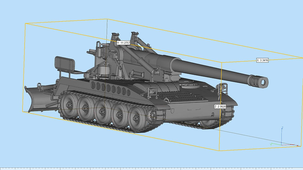 M110 Howitzer Highly Detailed