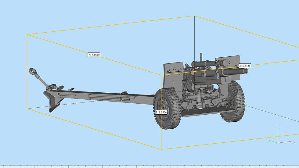 105mm M101 A1 Highly Detailed