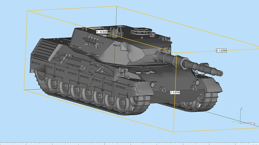 Leopard 1 Tank Highly Detailed