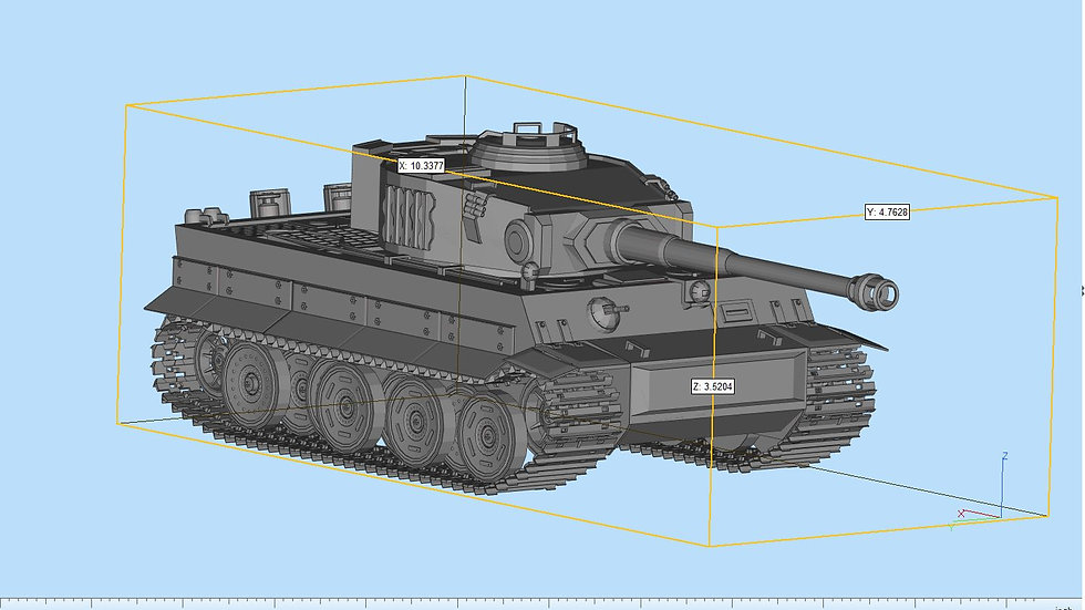 Tiger Tank Highly Detailed