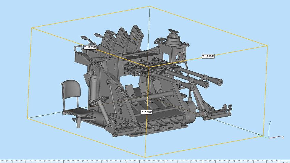 Type96 AAA Gun Highly Detailed